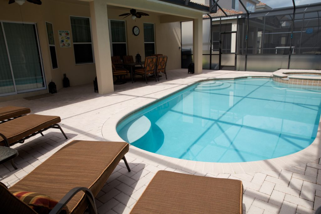 Large Sunny pool deck
